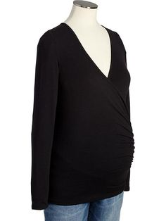 Maternity Wrap-Front Tops Product Image
