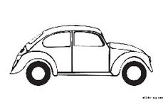 Free Coloring Pages Volkswagen Beetle