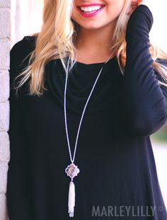 Add some sparkle to your outfit with our BEST SELLING Monogrammed Quatrefoil Necklace!