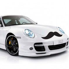 Car Mustache Decal