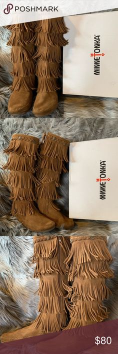 2d9b85ad0e999 16 Best Fringe moccasin boots images in 2016 | Boots, Boho boots ...
