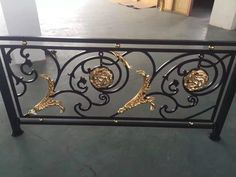 Iron Stair Railing, Railings, Blacksmithing, Entryway Tables, Buffet, Stairs, Cabinet, Storage, Gate