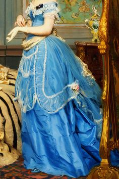 INCREDIBLE DRESSES IN ART (102/∞)Getting Dressed by Charles-Édouard Boutibonne, 1869