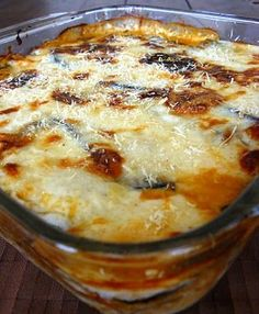 Lasagna de Berenjena - All Hair Styles Low Carb Recipes, Cooking Recipes, Healthy Recipes, Vegetable Recipes, Vegetarian Recipes, Organic Recipes, Casserole Recipes, I Foods, Italian Recipes