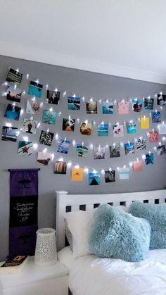 diy bedroom decor 35 Beautiful DIY Fairy Light for Minimalist Bedroom Decoration Cute Bedroom Decor, Bedroom Decor For Teen Girls, Girl Bedroom Designs, Teen Room Decor, Room Ideas Bedroom, Diy Bedroom, Teen Room Designs, Bedroom Themes, Bedroom Inspo