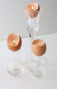 How To: Easter Egg Shell Candles
