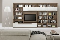 Olmo Storm and Bianco Lux Bookshelf | ColombiniCasa