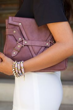 6f27a3f29d5 Purple Clutch / Lilac Accessories / White Pants Givenchy, Gucci, Burberry,  Love Fashion