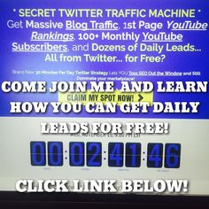 Do you struggle with getting leads? Come learn how to get daily FREE LEADS on this Wednesdays weekly training webinar at http://ift.tt/2gifZKs