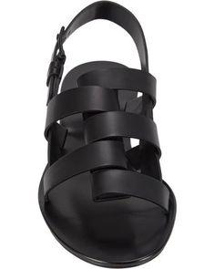 Jil Sander Foldoverstrap Slingback Sandals in Black - Lyst Leather Slippers, Mens Slippers, Leather Sandals, Jil Sander, Slipper Sandals, Shoes Sandals, Vintage Mode, Slingback Sandal, Black Sandals