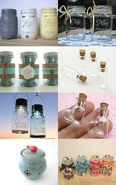 Lovely jars by InstantPrintable on Etsy--Pinned with TreasuryPin.com
