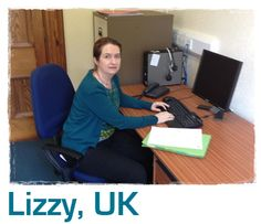 Lizzy's desk at home