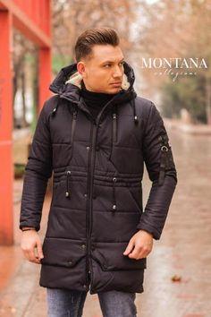 Geaca lunga blue Winter Jackets, Blue, Fashion, Winter Coats, Moda, Winter Vest Outfits, Fashion Styles, Fashion Illustrations