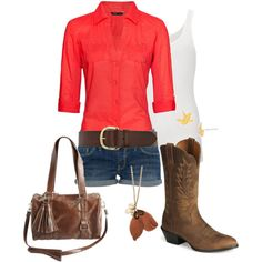 dressy southern summer casual. Would look awesome with my new cowboy boots :)