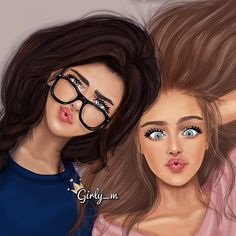 Beautiful Girls, Friends! / Belle Ragazze, Amiche! - Art by girly_m, Websta (Webstagram)