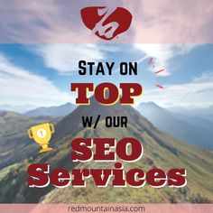 Who doesn't want to stay on Google's first page? Here at RedMountain Asia, we guarantee to provide the best SEO Services in Hong Kong to help you maintain your high ranking on Google! To learn more, visit our website, or email; enquiry@redmountainasia.com Best Seo Services, Digital Marketing Services, First Page, Seo Company, Search Engine, Hong Kong, Asia, Engineering, Website