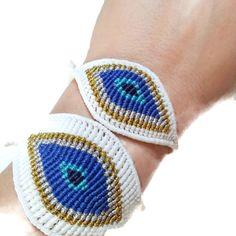 macrame evil eye bracelet Σχέδια Για Βραχιόλια 9cb182edb94