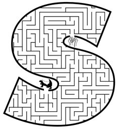he silly spider wants to go through the maze to see his friend, the sick skunk,  on this free printable maze of the letter s.