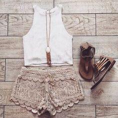 ideas for moda hippie casual shorts Look Fashion, Teen Fashion, Fashion Outfits, Fashion Trends, Womens Fashion, Fashion Edgy, Fashion Clothes, Fashion Art, Ethno Style
