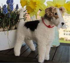 wire haired fox terrier graphics   Jenny's Wire-haired Fox Terrier   Best in Show: Knit Your Own Dog