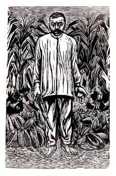 """thinkmexican: """"Emiliano Zapata""""Ignacio Aguirre, circa 1930"""