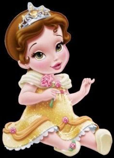 Disney Little Princess Baby Images On A Transparent Background Disney Princess Belle, Princesses Disney Belle, Princesa Disney Bella, Disney Princess Toddler, Disney Princess Birthday, Disney Babys, Cute Disney, Disney Art, Dragon City