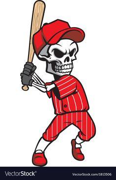 Baseball Mascots, Baseball Players, Death Tattoo, Arm Tattoo, Baseball Batter, Baseball Crafts, Acid Art, Sports Flyer, Skull Art