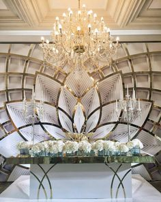 Art Decoish Lotus as a wall unit maybe for my dining room or bedroom? Wedding Stage Decorations, Wedding Themes, Wedding Designs, Wedding Styles, Sweetheart Table, Stage Design, Event Decor, Backdrops, Dream Wedding