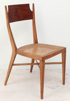 Set of 8 Mid-Century Caned Chairs by Paul McCobb for Calvin | From a unique collection of antique and modern side chairs at https://www.1stdibs.com/furniture/seating/side-chairs/