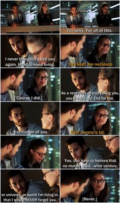 """I would never forget you. Never."" Annnd, I've fallen in love with another of Mon-El's conversations with Kara. This one ranks up there with ""Comets,"" ""I love you,"" and ""Absolutely beautiful."" Dang you, Supergirl writers! I hate how much I <3 these two because it HURTS. 