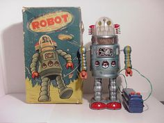 """Revolving Flashing """"Door"""" Robot Robot Classroom, Classroom Themes, Vintage Toys, Robots, Old Fashioned Toys, Robot, Old School Toys"""