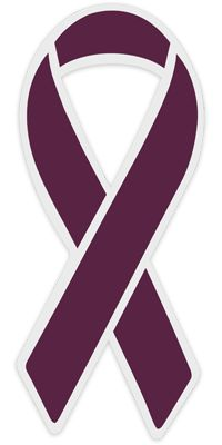 hemochromatosis ribbon color | Burgundy Awareness Magnets : Awareness Pins for Adhesions ...