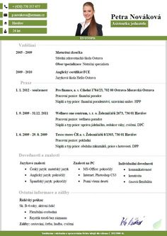 Pro-CV 9. vzor žena. Více informací zde http://www.pro-cv.cz/produkt/pro-cv-9-vzor-zena/