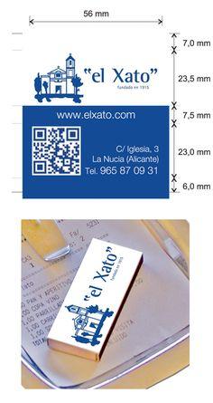 """Cajas de cerillas modelo """"Hotel"""" para el restaurante el Xato en La Nucia (Alicante). Alicante, Model, Match Boxes, Proposals, Restaurants"""
