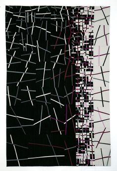 """Connections #5""  Artist dyed fabrics, 60"" x 40"", © 2010 Aryana B. Londir"