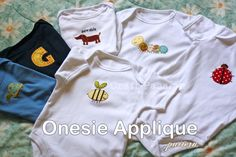 Hand Applique on Onsie