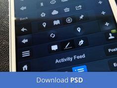 33 Beautiful iOS 7 GUI PSD Kits & Templates - Feed Castle