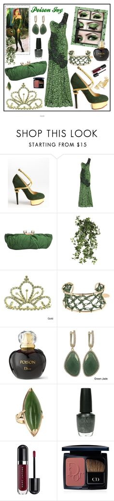 """""""Poison Ivy Inspired"""" by leanne-mcclean ❤ liked on Polyvore featuring Charlotte Olympia, Andrew Gn, OKA, Kate Marie, Casa di Minea, Christian Dior, Luxiro, OPI, Marc Jacobs and Bar III"""