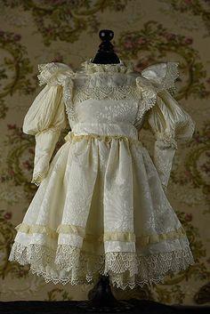 Custom Dress and Pinafore for Bru, Jumeau, Steiner - Anna-Sophie Collection #dollshopsunited