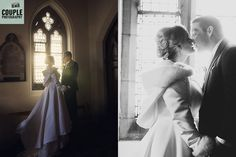 The beautiful light inside the church. Weddings at Tulfarris Hotel Photographed by Couple Photography.
