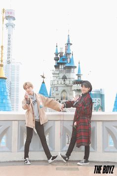 This is the cutest couple Kpop Couples, Cute Couples, Asian Boy Band, Lotte World, Chang Min, Kim Sun, Hyun Jae, My Land, Kpop Boy