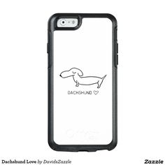 Dachshund Love  #cute #cartoon #dachshund #dog #pet #line #drawing #illustration #black #white #fun #love #heart #buy #sale #zazzle #friend #family #phone #case #tablet #folio #folding #tough #slim #barely #there #wallet #laptop #sleeve #protect #protection #gear #accessory #life #style #lifestyle