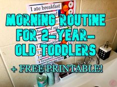 Morning routine for toddlers Twin Toddlers, Twin Mom, Eat Breakfast, Free Printables, Routine, Learning, Free Printable, Studying, Teaching