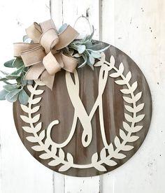 Monogram Door Hanger Personalized Door Hanger Front Door | Etsy