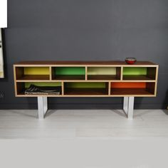 Low slung cabinet. Contemporary furniture design for funky interiors.