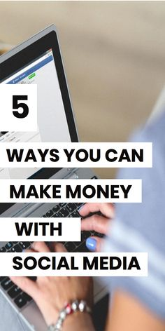 Make money with social media! Learn 5 strategies for making money online with your social media accounts. Learn how Instagram, Youtube, Facebook and Twitter can earn you money online. #makemoneyonline #bloggingtips