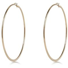 River Island Gold tone oversized hoop earrings ($7.55) ❤ liked on Polyvore featuring jewelry, earrings, gold tone jewelry, gold tone earrings, gold tone hoop earrings, hoop earrings and oversized hoop earrings