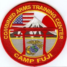 Camp Fuji Patch High Quality Marine Corps Patches for Veterans, Collectors, and Motorcycle Vests! Marine Corps Insignia, Marine Corps Bases, Motorcycle Vest, Us Marines, Training Center, Military Art, Sew On Patches, Okinawa, Usmc