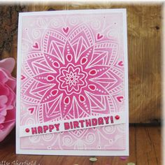 """65 Likes, 5 Comments - Sally Sherfield (@sallys_cards) on Instagram: """"A very simple card using @simonsaysstamp """"star flower background """" stamp. I have highlighted with…"""""""