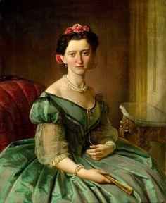 Olga Charlotte, Gräfin zu Solms-Teckelburg, by Eduard Robert Bary, circa 1860 | In the Swan's Shadow